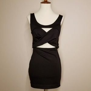 Backless little black dress